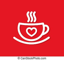 Una taza de café con corazón.