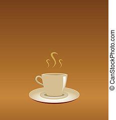 Una taza de café de fondo abstracto