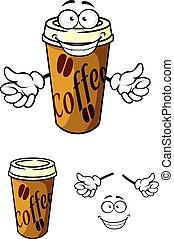 Una taza de café para llevar