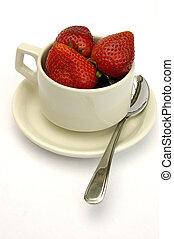 Una taza de fresa
