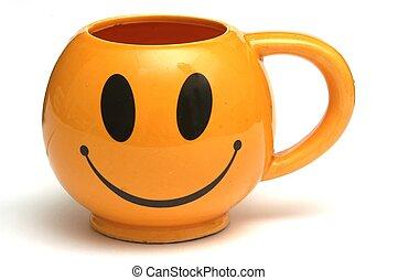 Una taza sonriente