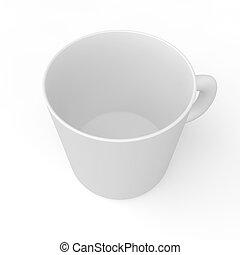 Una taza vacía