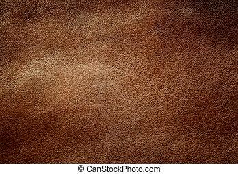 Una textura de cuero brillante.