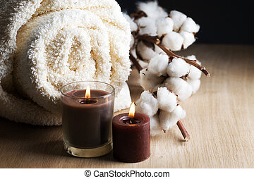 Una toalla de algodón