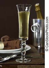 Una tostada de champaña