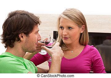 Una tostada de vino
