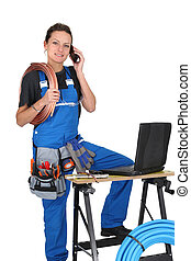 Una trabajadora femenina