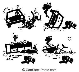 Una tragedia de accidentes desastrosos