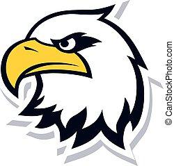 Una valiente plantilla de águila