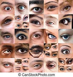 Una variedad abstracta de montaje de ojos