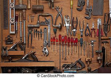 Una variedad de herramientas