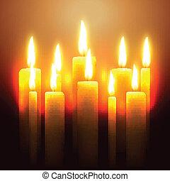 Una vela resplandeciente