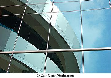 Una ventana reflejada