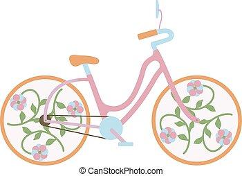 Una vieja bicicleta antigua