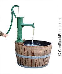 Una vieja bomba de agua