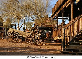 Una vieja carreta en Ghost Town