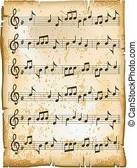 Una vieja hoja de música