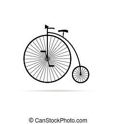 Una vieja ilustración de bicicletas en negro