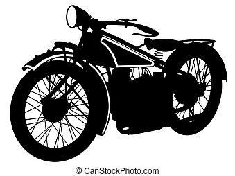 Una vieja moto motora dos