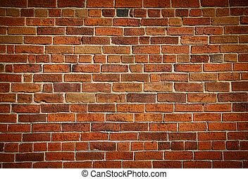 Una vieja pared de ladrillos