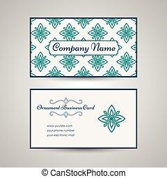Una vieja plantilla de tarjetas arábicas estilo árabe