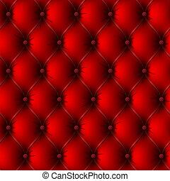 Una vieja tapicería de cuero rojo