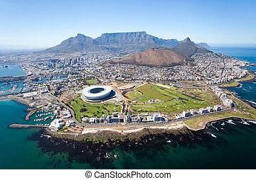 Una vista aérea de Ciudad del Cabo