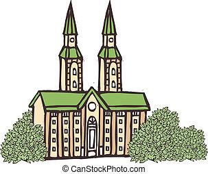 Una vista de la catedral