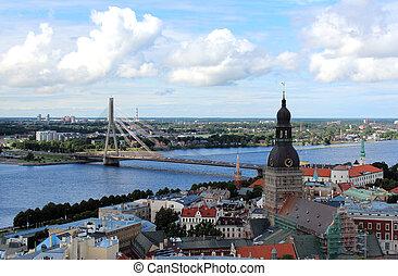 Una vista de vieja rutina, Latvia