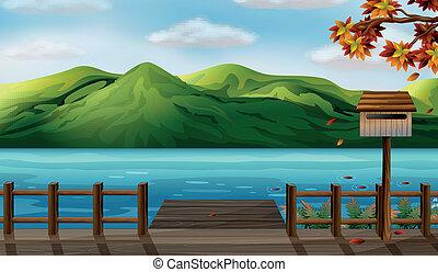 Una vista del mar y de las montañas altas