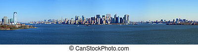 Una vista panorámica de Manhattan inferior, Nueva York