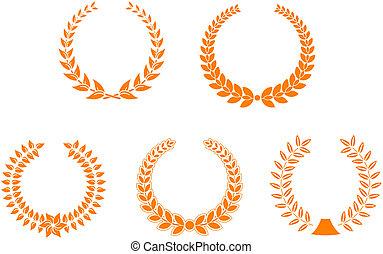 Unas coronas de laurel