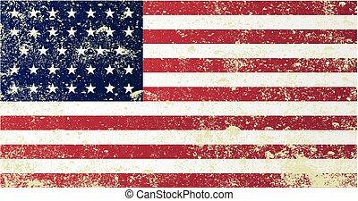 unión, civil, bandera, guerra