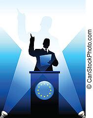 unión, dar, discurso, etapa, líder, europeo