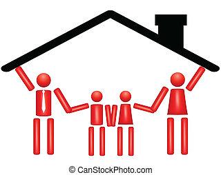 unión familia, casa