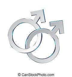 unión, símbolo, sexual