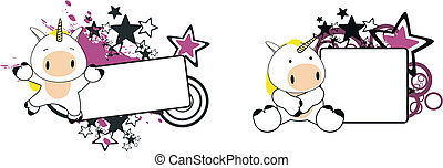 Unicornio de dibujos animados