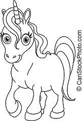 Unicornio esbozado