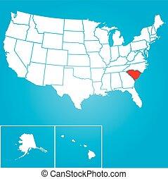 unido, -, ilustración, estados, estado, villancico, américa, sur
