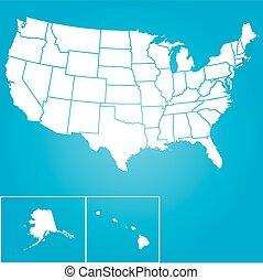 unido, -, ilustración, estados, rhode, estado, américa, islan