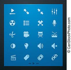 universal, glyphs, vídeo, conjunto, 1.