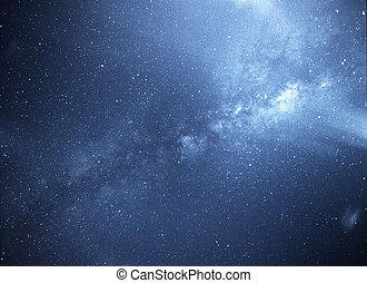 universal, manera, galaxia, lechoso