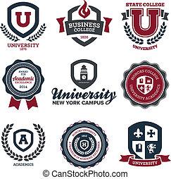 universidad, colegio, crestas