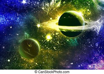 universo, galaxia, nebulosas, planetas, estrellas