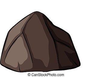 uno, gris, roca