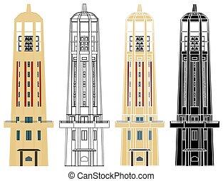 u.p., carillón, manila, filipinas., torre