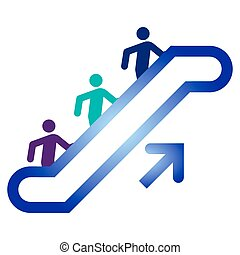 upside, escalera mecánica