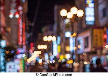 urbano, escena noche, defocused