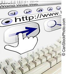 url, conexión, plano de fondo, internet, teclado, tecnología
