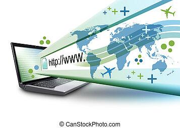 url, resumen, computadora, computador portatil, internet